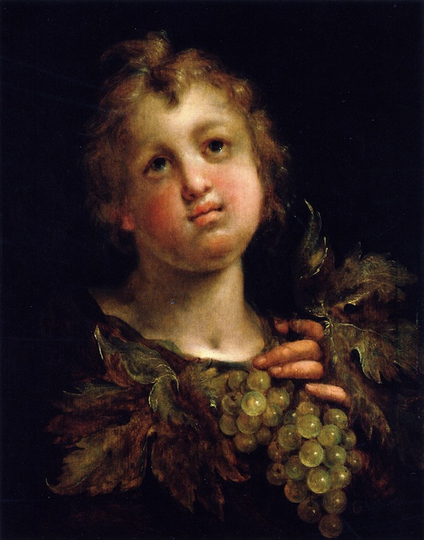 A Boy with Grapes