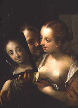 AachenLaughing Couple with a mirror 1596
