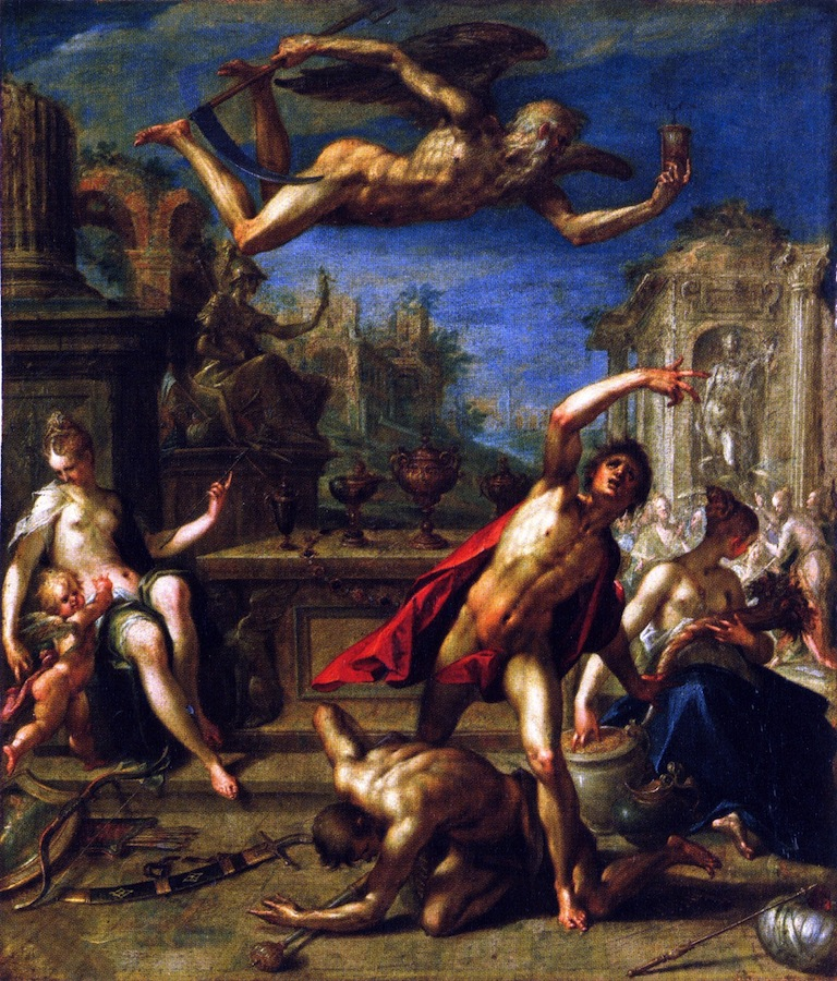 Allegory of Rulership The Return of the Golden Age under Saturn