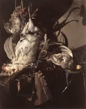 Still Life Of Dead Birds And Hunting Weapons 1660
