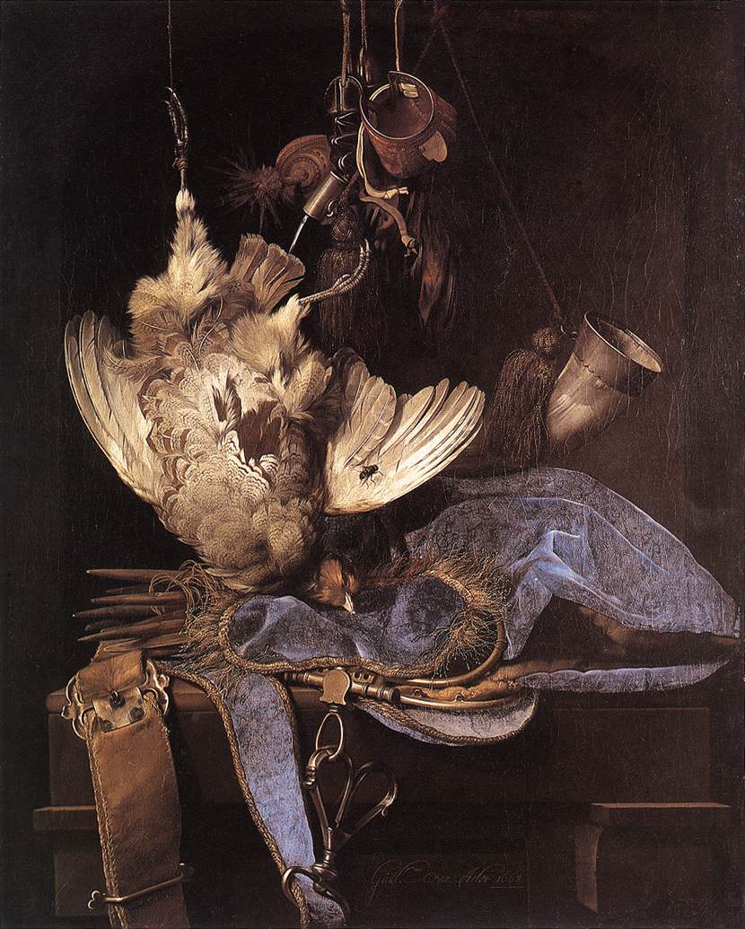 Still Life With Hunting Equipment And Dead Birds 1668