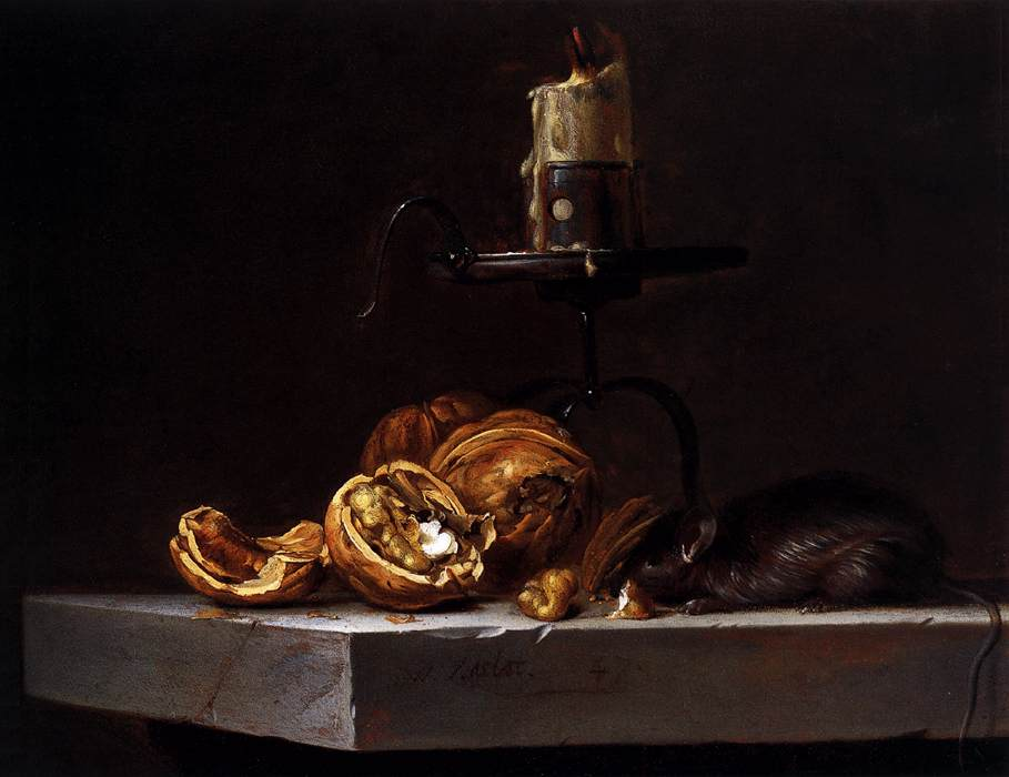 Still Life with Mouse and Candle 1647