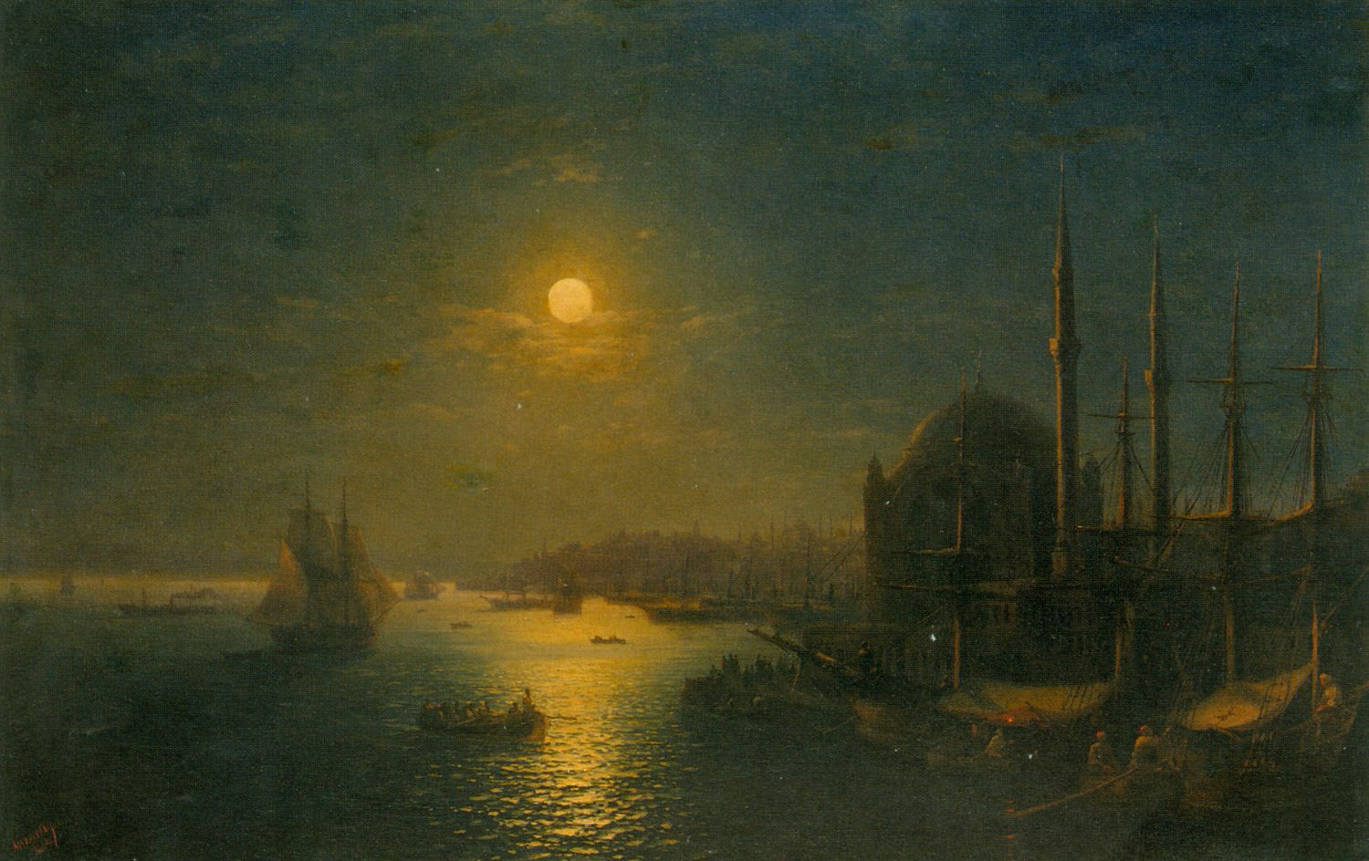 A Moonlit View of the Bosphorus
