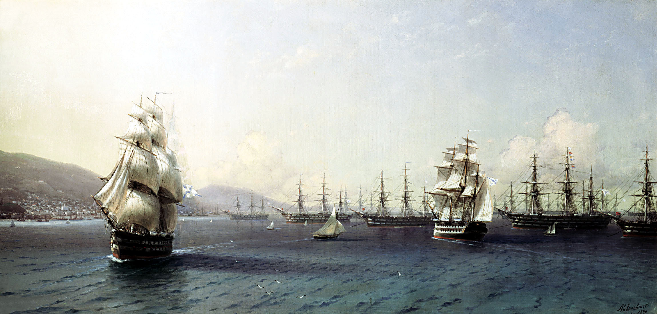 Black Sea Fleet in the Bay of Theodosia