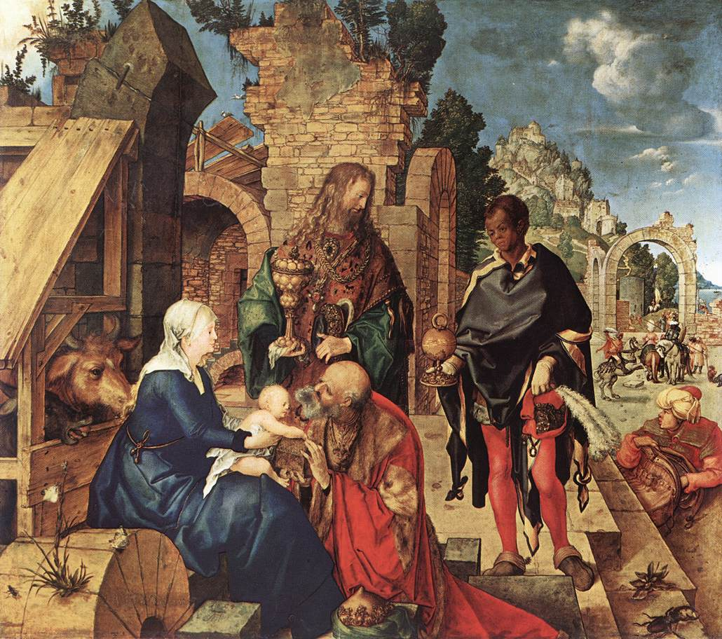 Adoration of the magi durer