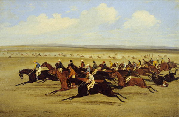 The 1850 Cambridgeshire Stakes The Start