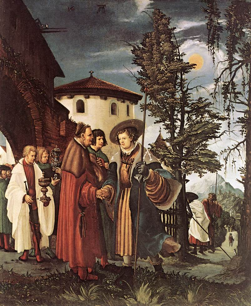 St. Florian Taking Leave of the Monastery