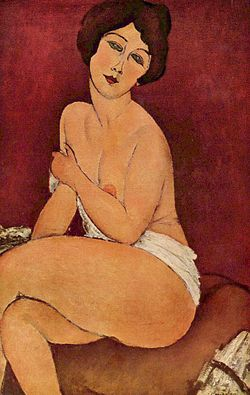 Nude Sitting on a Divan
