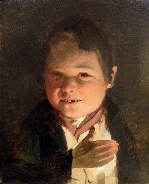 Boy in the candlelight