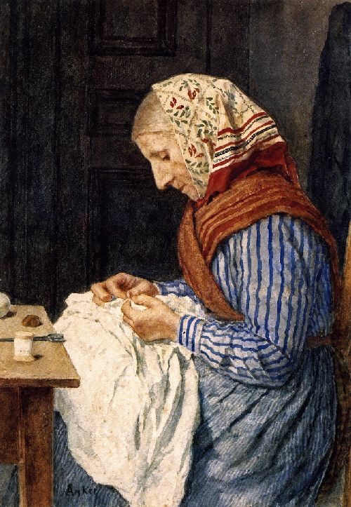 A Farmer's Wife Sewing