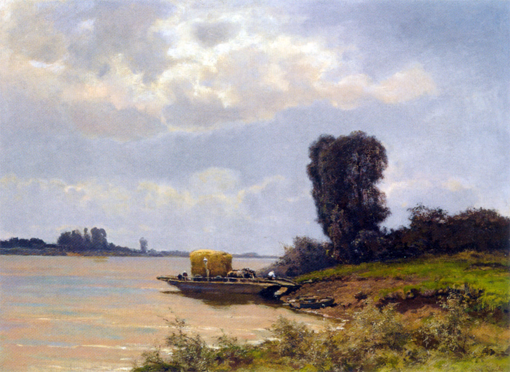 A Ferry In A Summer Landscape