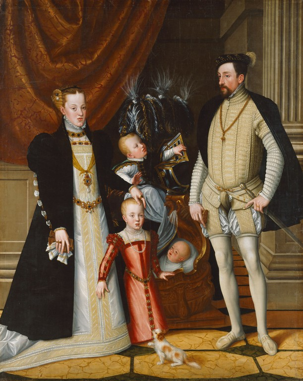 Holy Roman Emperor Maximilian II of Austria and Family