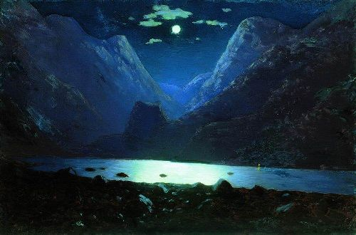 Darial Gorge Moonlit Night 1890 1895