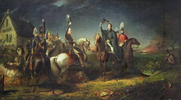 The Meeting of the Duke of Wellington and Field Marshal Blucher