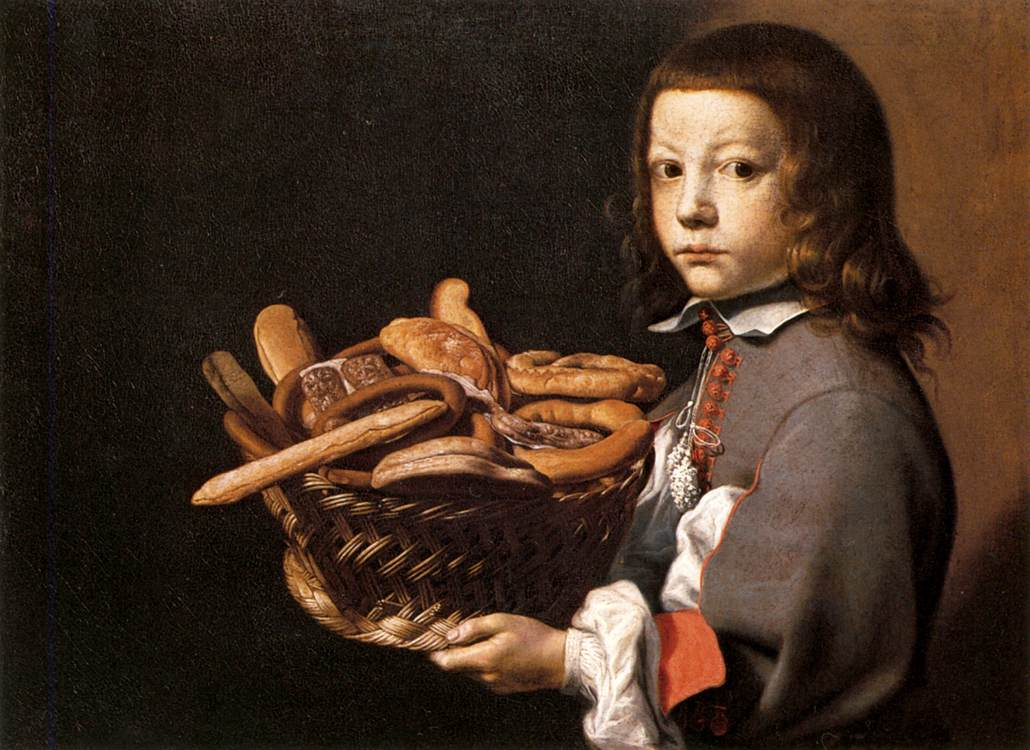 Boy with a Basket of Bread