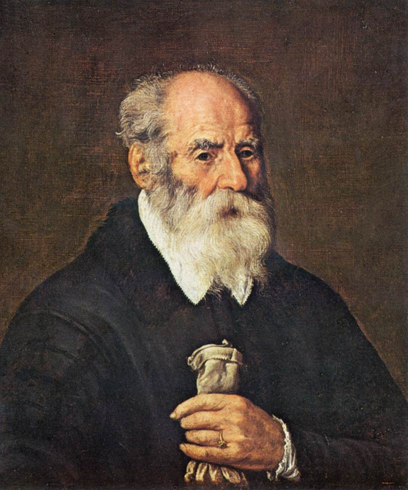 marcantonio bassetti portrait of an old man with gloves