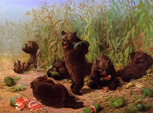 Bears in the Watermelon Patch