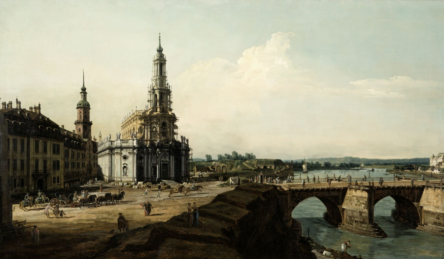 View of Dresden from the Left Shore of the Elbe