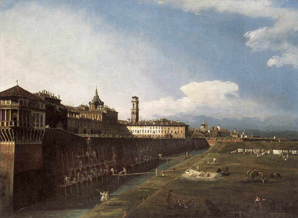 View of Turin near the Royal Palace