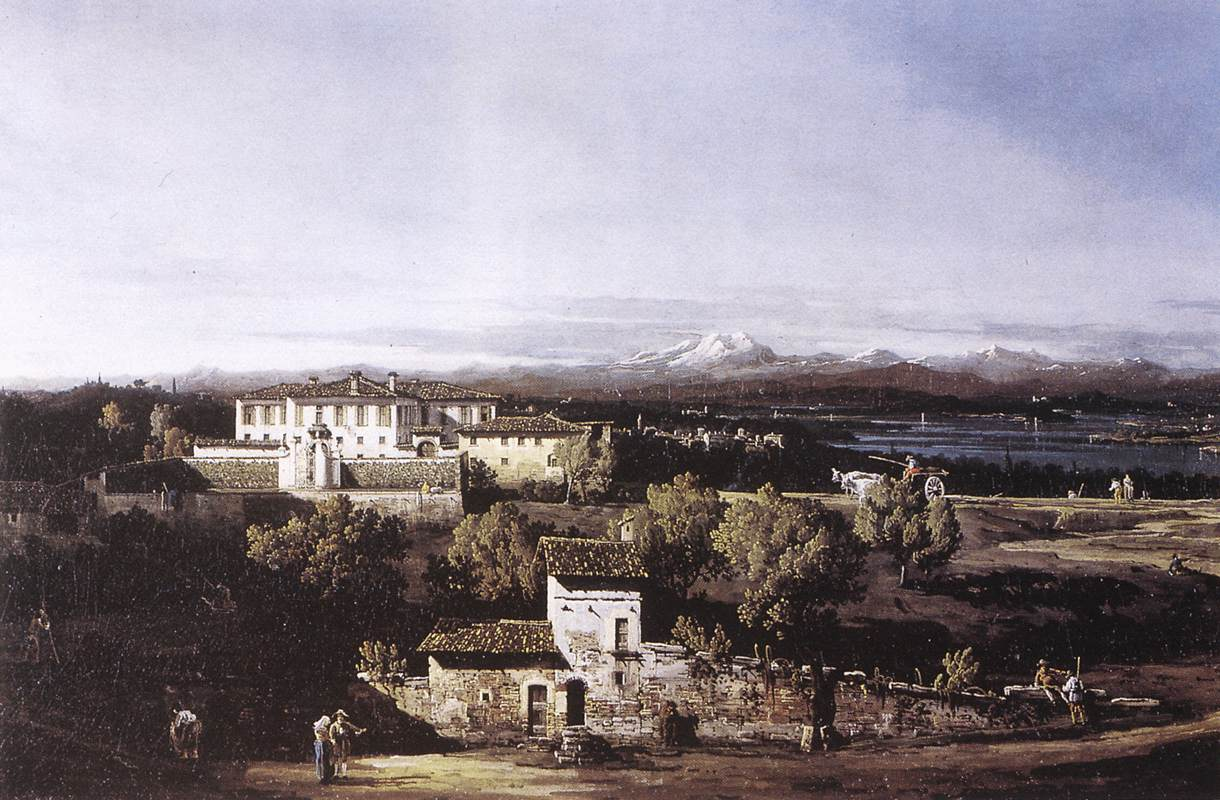 View with the Villa Melzi D'Eril