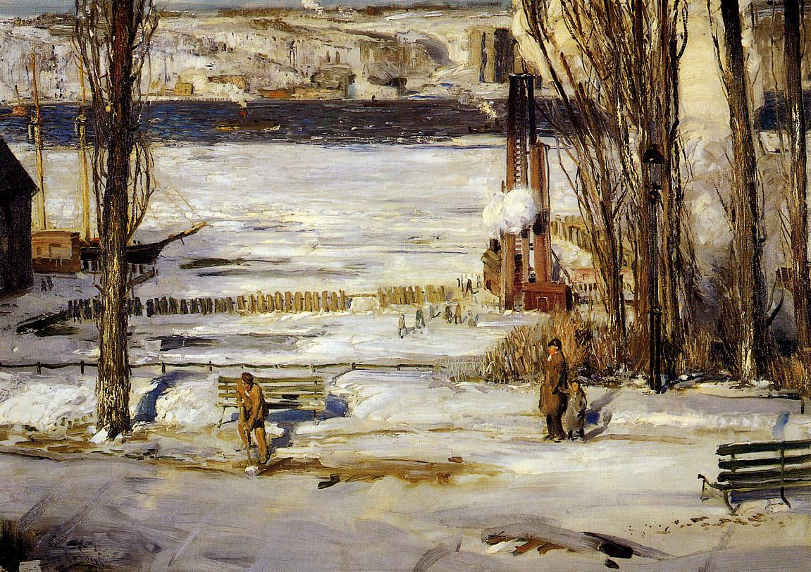 A Morning Snow, Hudson River