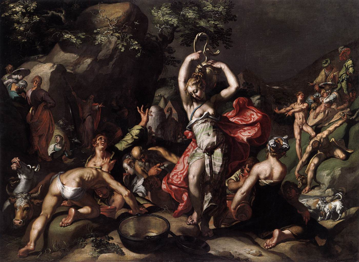 Abraham Bloemaert Moses Striking The Rock Oil Painting