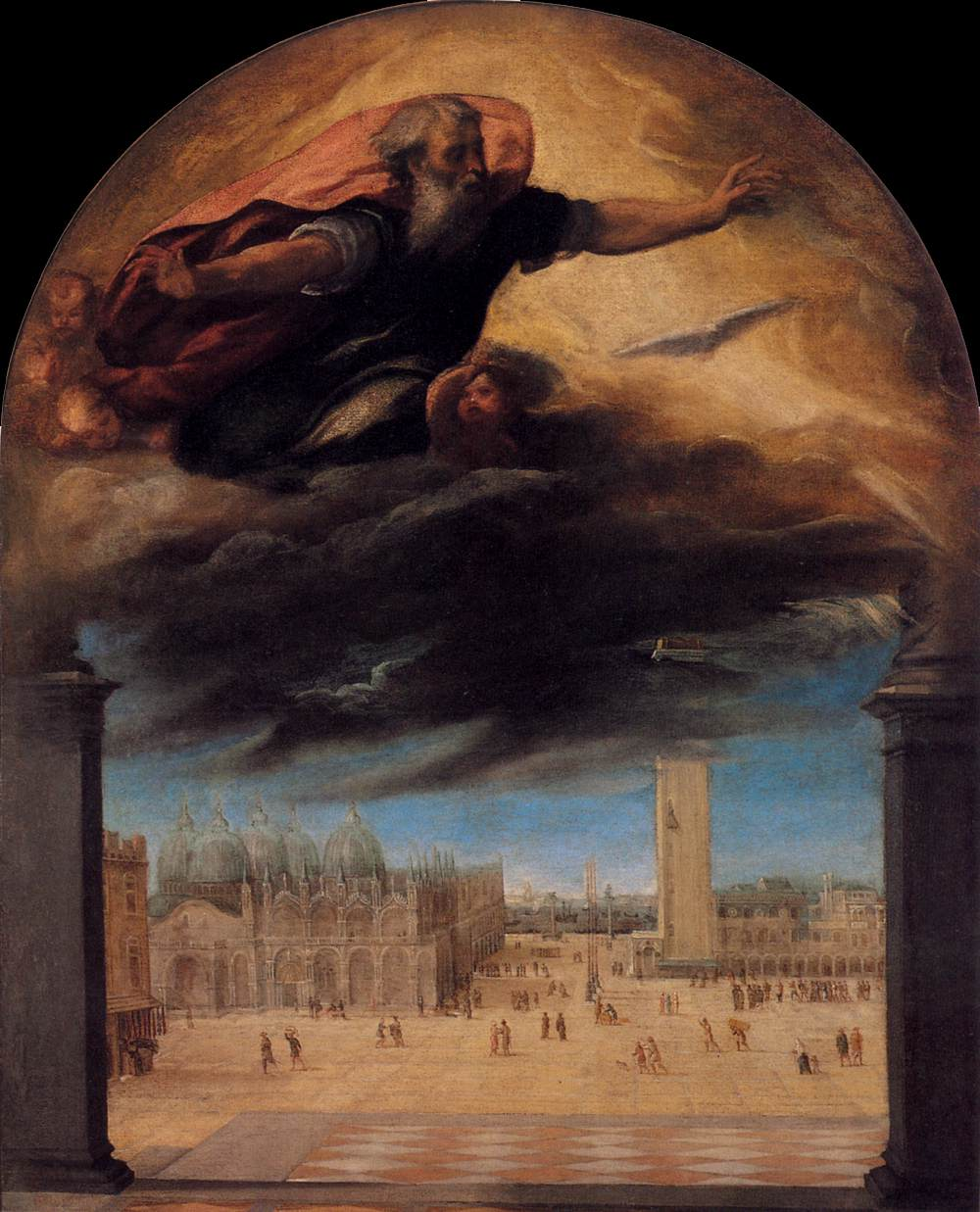 What Does The Father Of The Bride Wear: Veronese Bonifacio God The Father Over The Piazza San