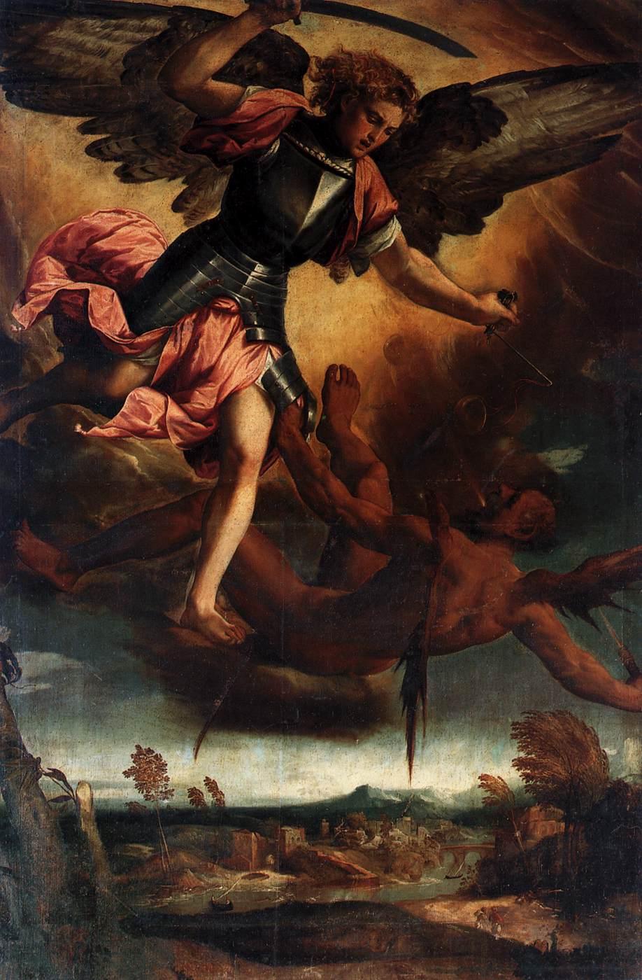Veronese Bonifacio St Michael Vanquishing the Devil Oil ...