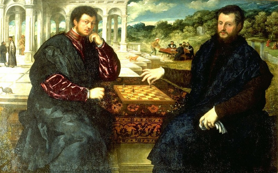 Paris Bordone Two Chess Players Oil Painting Reproduction
