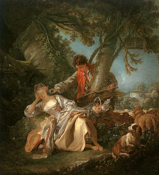 Francois Boucher Leda And The Swan Oil Painting Reproduction : The20Interrupted20Sleep from www.outpost-art.org size 639 x 700 jpeg 113kB
