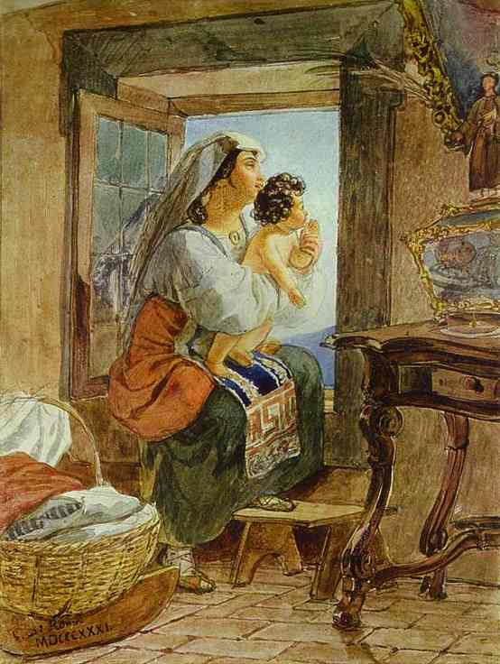 Italian Woman with a Child by a Window