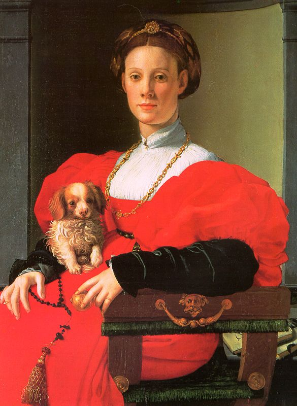 A Lady With A Puppy