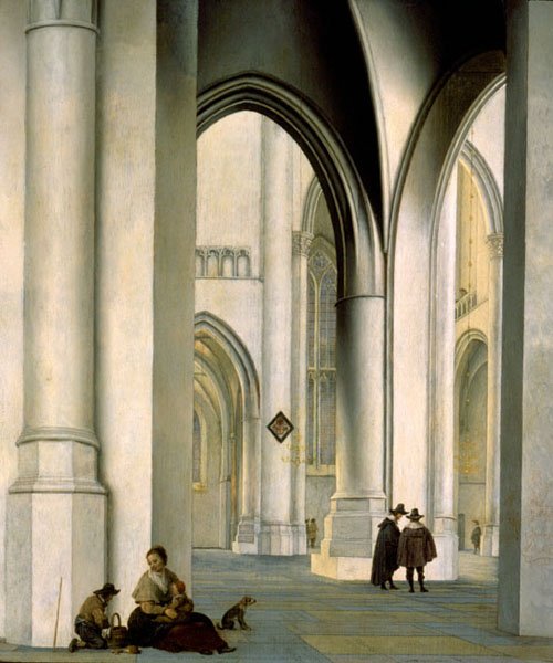 Interior of the St. Bavo Church, Haarlem