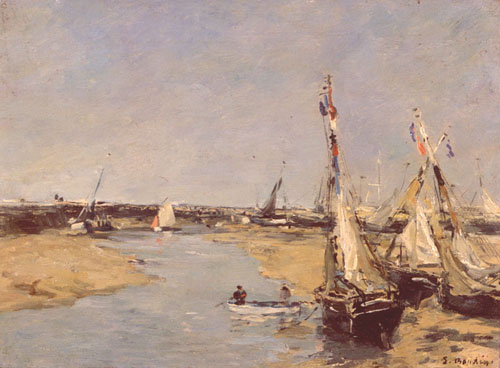 Trouville, at low tide