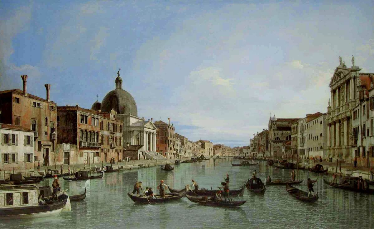 Canal Grande with San Simeone Piccolo