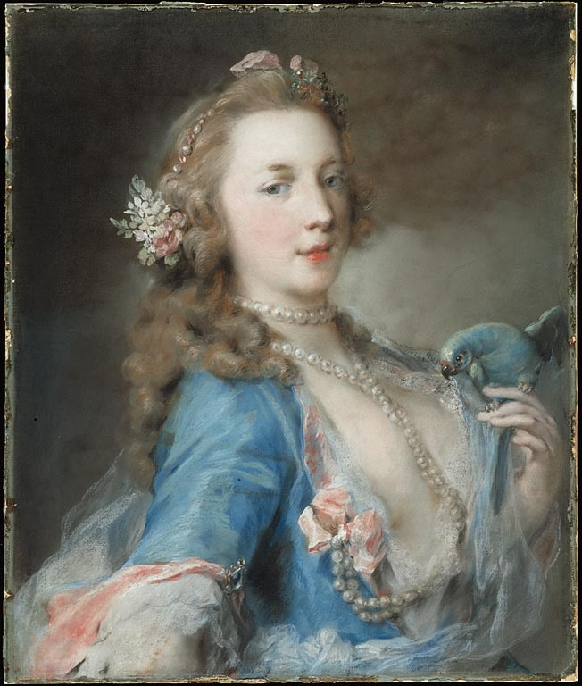 A Young Lady with a Parrot