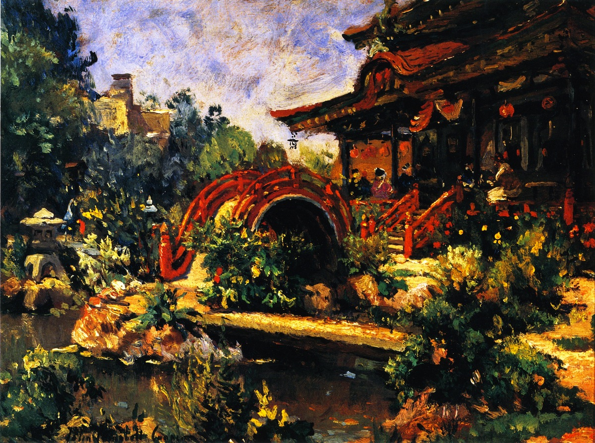 Japanese Tea Garden by Colin Campbell Cooper