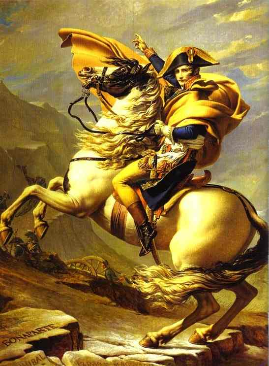Bonaparte Crossing The St Bernard Pass 1800