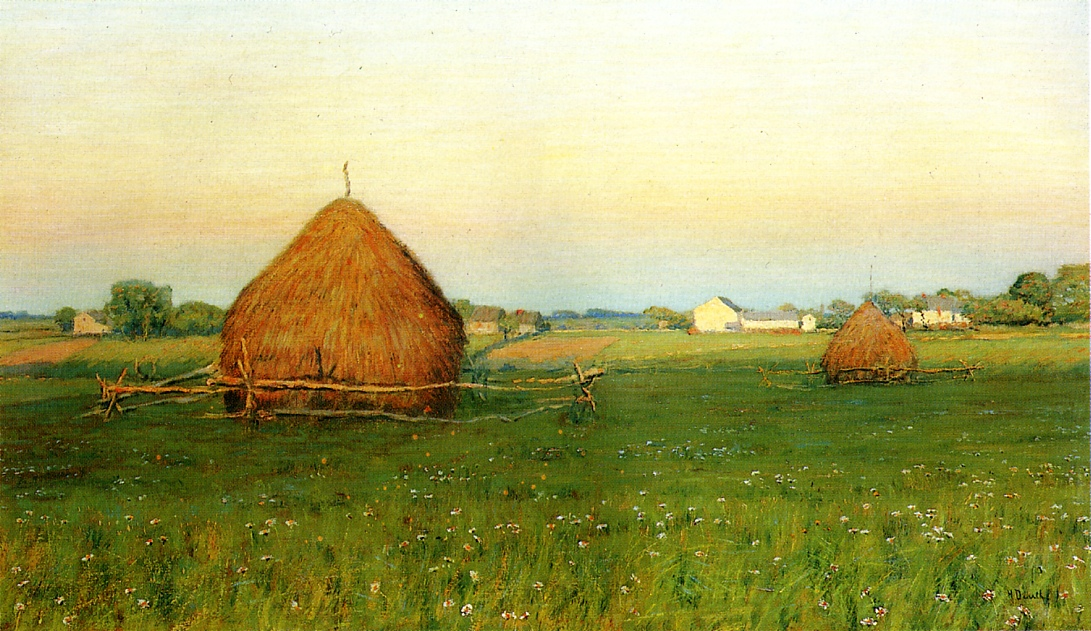 Landscape with Haystacks