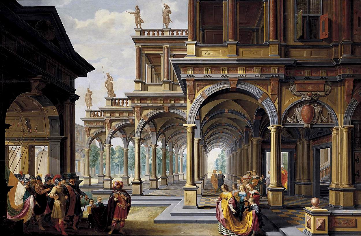 Architectural Capriccio with Jephthah and His Daughter