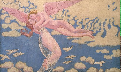 Cupid Carrying Psyche Up to Heaven