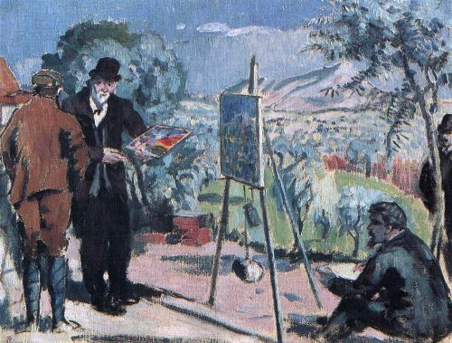 The Visit to Cezanne