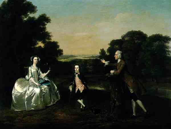 Mr and Mrs Van Harthals and Their Son 1749