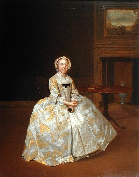 Portrait of Miss Elizabeth Hemyng 1738 42