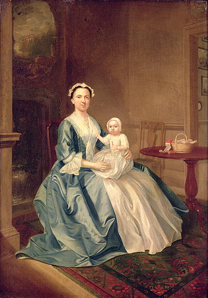 Portrait of a lady of the Lister family and Child