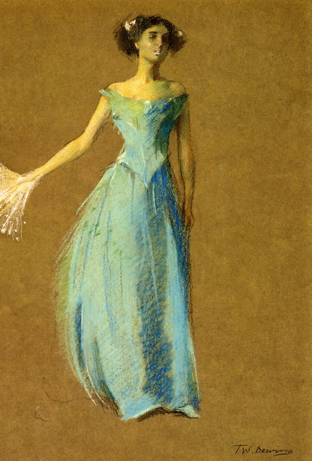 Lady in Blue Portrait of Annie Lazarus