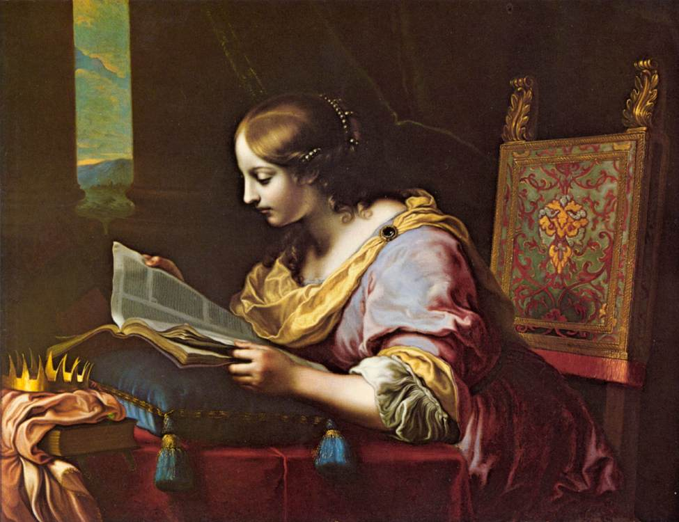 St Catherine Reading a Book
