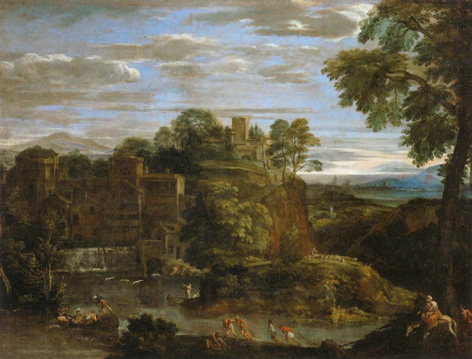 Landscape with the Flight into Egypt b