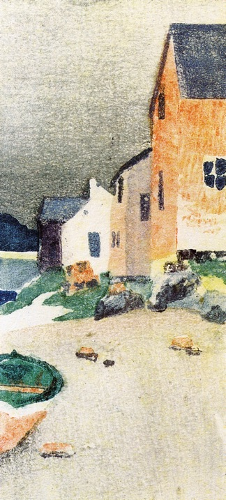 A Gray Day aka Houses on a Beach 1895