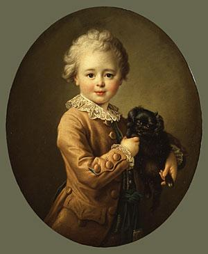 Boy with a Black Spaniel